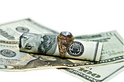 Cash for Old Gold Jewelry Royalty Free Stock Photography
