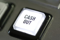 Cash out button Stock Photos