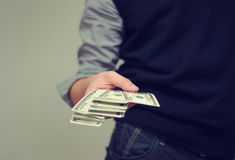 Cash payment Stock Photography
