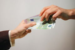 Cash payment Royalty Free Stock Photo