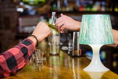 Cash payment. Ordering drinks in bar. Purchase and payment. Cash money concept. Leave tips for bartender. Tip given to. Waiter. One more alcohol cocktail. Hand royalty free stock photo