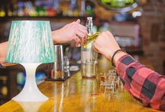 Cash payment. Ordering drinks in bar. Purchase and payment. Cash money concept. Leave tips for bartender. Tip given to. Waiter. One more alcohol cocktail. Hand royalty free stock images