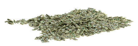 Cash Pile Stock Photo
