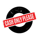 Cash Only Please rubber stamp Royalty Free Stock Images