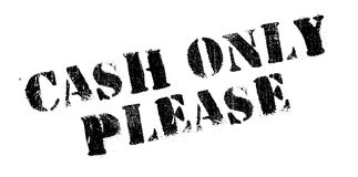 Cash Only Please rubber stamp Stock Images