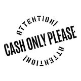Cash Only Please rubber stamp Stock Photos