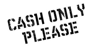 Cash Only Please rubber stamp Stock Photo