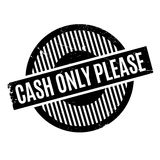 Cash Only Please rubber stamp Royalty Free Stock Image