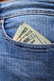 Cash in the Pocket Royalty Free Stock Photos