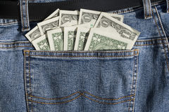 Cash in Pocket Royalty Free Stock Photography