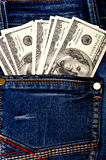 Cash in pocket Stock Photos