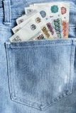 Cash in a pocket Royalty Free Stock Photos