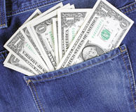 Cash in Pocket Royalty Free Stock Image