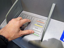 Cash point Stock Photos