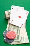 Cash poker Royalty Free Stock Image