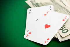 Cash poker Stock Photos
