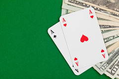 Cash poker Stock Photography