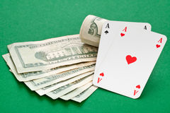 Cash poker Stock Image