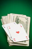 Cash poker Royalty Free Stock Photography
