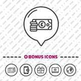 Cash Pound icon. Banking symbol. Eps10 Vector business money icon Stock Photo