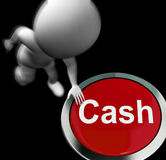 Cash Pressed Means Money Finances And Wealth. Cash Pressed Meaning Money Finances And Wealth Royalty Free Stock Images