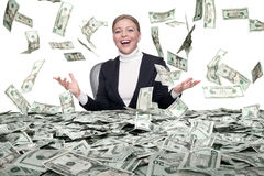Cash rain stock image