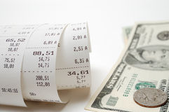 Cash receipt Royalty Free Stock Photo