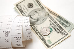 Cash receipt Royalty Free Stock Image