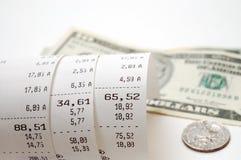 Cash receipt Stock Photos