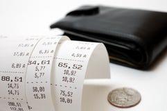 Cash receipt Royalty Free Stock Photos