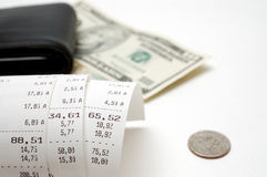 Cash receipt Stock Images