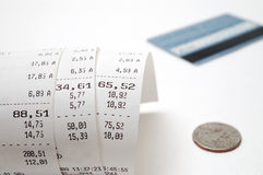 Cash receipt Royalty Free Stock Photography