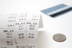 Cash receipt. Illustrating the spent money Royalty Free Stock Photography