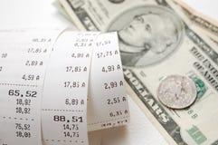Cash receipt Stock Photo