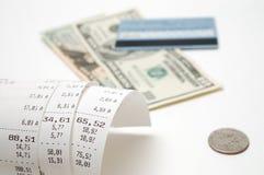 Cash receipt Stock Image