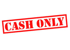CASH ONLY Royalty Free Stock Images