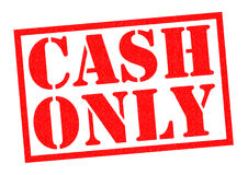 CASH ONLY Royalty Free Stock Photo