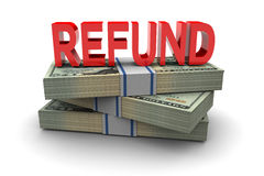 Cash Refund Stock Image