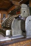 Cash Registe. Old fashionable cash register in a drugstore Royalty Free Stock Photo