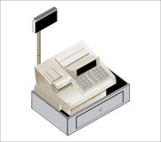 Cash register. High Definitions illustration of a cash register. Colors are editable for additional format royalty free illustration