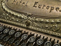 Cash Register. Old cash register from the early 1900's. Hotel Europe Royalty Free Stock Images