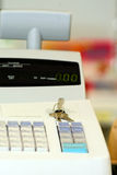 Cash Register. With keys in the pharmacy Stock Images