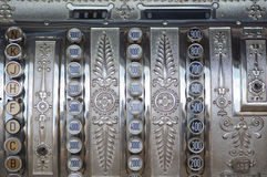Cash register. Vintage cash register, close up Stock Photo