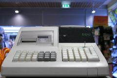 Cash register. In a shop Royalty Free Stock Image