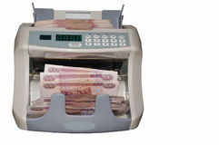 Cash register. Currency Counter isolated Stock Photography