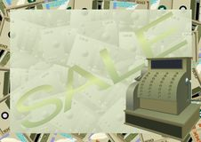 Cash Register And Money Stock Images