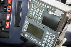 Cash register in the bus Royalty Free Stock Images