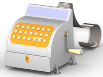 Cash register with check ribbon Royalty Free Stock Photos