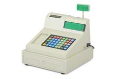 Cash register, 3D rendering. On white background Stock Photo