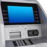 Cash register. Display and keyboard set terminal. ATM for storing money zhidkokrestalicheskim display Royalty Free Stock Image